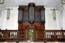 Orgel Sint-Martinuskerk Stevoort, in 1898 gebouwd door Theodoor Ruef uit Sint-Truiden (foto: Annemie America, 2008)