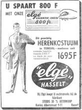 Advertentie 'Elgé', Koning Albertstraat 9-11 (uit: Het Belang van Limburg, 14-06-1962, p. 12)
