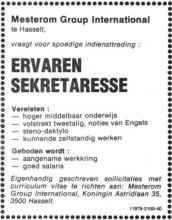 Advertentie 'Mesterom Group International', Koningin Astridlaan 35 (uit: Het Belang van Limburg, 03-12-1977, p. 22)
