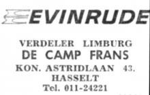 Advertentie 'Evinrude', Koningin Astridlaan 43 (uit: Het Belang van Limburg, 02-12-1968, p. 20)