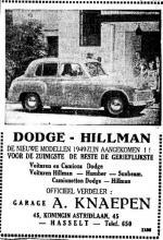 Advertentie 'Garage A. Knaepen', Koningin Astridlaan 45 (uit: Het Belang van Limburg, 11-03-1949, p. 6)