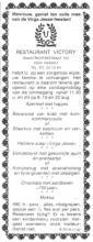 Advertentie 'Restaurant Victory', Maastrichterstraat 102 (uit: Het Belang van Limburg, 02-08-1982, p. 3)