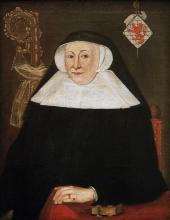 Olieverfportret Mechtildis de Lechy, abdis Herkenrode (1520-1548) (collectie Huize Herkenrode)