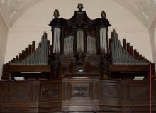 Het orgel in de Minderbroederkerk (uit: Orgelgids (2005), p. 45)