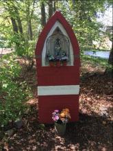 Kapel Onze-Lieve-Vrouw Koningin des Vredes, Monninxstraat, Kermt (foto: Ludo Ector en Jenny Mees, 2018)