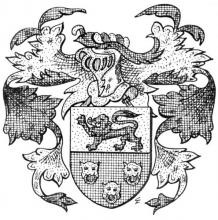 Familiewapen Egidius Paesmans Nobenus (1541-1623) (uit: Het Belang van Limburg, 22-09-1973, p. 15)
