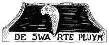 Uithangteken 'De Swarte Pluym', tekening, J.P. Proesmans (uit: Hasselt intra muros (1989), p. 216)