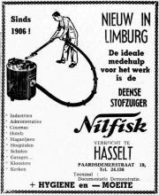 Advertentie 'Nilfisk', Paardsdemerstraat 19 (uit: Het Belang van Limburg, 04-07-1959, p. 14)