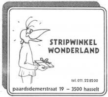Advertentie Stripwinkel Wonderland', Paardsdemerstraat 19 (uit: Het Belang van Limburg, 30-10-1982, p. 35)