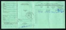 Familie Trippas, inschrijvingsbewijs Peter Trippas, verso (foto: privécollectie)