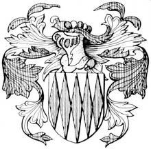 Familiewapen Puts, burgemeester 17de eeuw (uit: Het Belang van Limburg, 31-07-1982, p. 30)