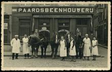 Slagerij Vanrusselt-Nouwen na WO II, afb. 2 (privécollectie familie Vanrusselt)