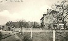 Wimmertingen, Onze-Lieve-Vrouwstraat met pastorij en Lourdesgrot, prentbriefkaart
