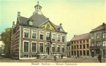 Stadhuis, Groenplein, prentbriefkaart (collectie Stadsarchief Hasselt)