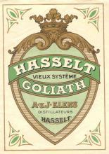 Stokerij Elens, Vieux Système Goliath, etiket, ca. 1930-1950 (collectie Jenevermuseum Hasselt)