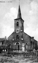 Stokrooie. - De Kerk, prentbriefkaart (uit: Kuringen Sint-Jansheide Schimpen Tuilt Stokrooie / Warm aanbevolen (2004), p. 15)