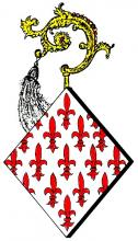 Wapen Catharina van Kerckom, abdis Herkenrode (1354-1365) (uit: Wapenboek (2004), p. 31)