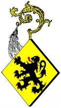 Wapen Aleidis van Rijkel, abdis Herkenrode (1414-1433) (uit: Wapenboek (2004), p. 35)