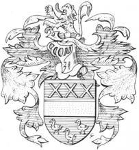Familiewapen Vandelaer (uit: Het Belang van Limburg, 14-03-1970, p. 14)