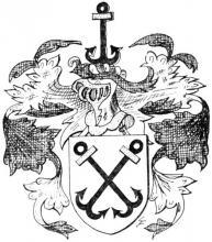Familiewapen Vrerix (uit: Het Belang van Limburg, 07-04-1973, p. 16)
