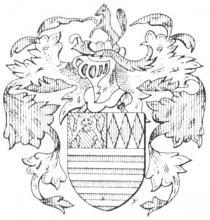 Familiewapen Vuskens (uit: Limburgse families en hun wapen (1973), p. 144)