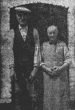 Lowie en Mechelke Metten, twee kloeke oudjes met een gouden hart (uit: Waar de Heksen hun Bezems huurden… / Zeven der laatste Bezembinders van Kiewit tellen samen 559 Jaar (1953), p. 1)
