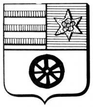 Familiewapen Warnants (uit: Het Belang van Limburg, 13-09-1975, p. 31)