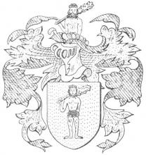 Familiewapen Wilsens (uit: Limburgse families en hun wapen (1984), p. 148)