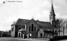 Sint-Niklaaskerk Wimmertingen, prentbriefkaart (uit: Wimmertingen / Warm aanbevolen (2009), p. 10)