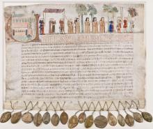Aflaatbrief van Herkenrode (collectie Bibliotheek Hasselt Limburg)