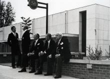 Enkele leden van de Broederschap van Onze-Lieve-Vrouw Virga, 1982 (foto: collectie Virga Jessecomité)