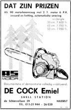 Advertentie 'De Cock Emiel Shell Station', de Schiervellaan 39 (uit: Het Belang van Limburg, 24-12-1969, p. 7)