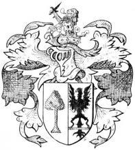 Familiewapen de Gerlache (uit: Het Belang van Limburg, 04-05-1974, p. 35)
