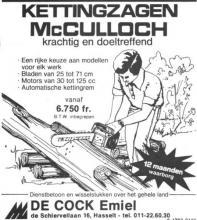 Advertentie 'Emiel De Cock', de Schiervellaan 16 (uit: Het Belang van Limburg, 19-02-1977, p. 31)
