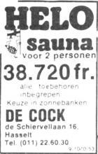 Advertentie 'De Cock', de Schiervellaan 16 (uit: Het Belang van Limburg, 19-01-1980, p. 34)