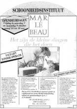 Advertentie 'Schoonheidsinstituut Mar Le Beau', de Schiervellaan 2 (uit: Het Belang van Limburg, 05-10-1989, p. 32)