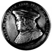Medaille met portret prins-bisschop Erard van der Marck (1472-1538) (collectie Het Stadsmus Hasselt)