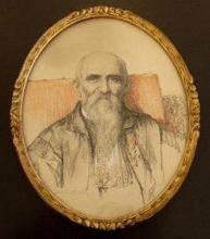 Portret Guillaume Stellingwerff (1841-1923), pastel, Jos. Damien (1879-1973) (collectie Het Stadsmus Hasselt)