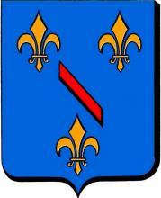 Wapenschild prins-bisschop Lodewijk van Bourbon (1438-1482) (uit: Les Armoiries des Princes Evêques de Liège (1958), p. 92)