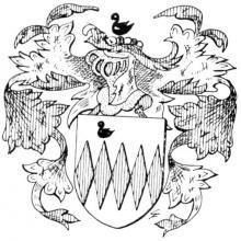Familiewapen van Caulil (uit: Het Belang van Limburg, 28-08-1982, p. 37)