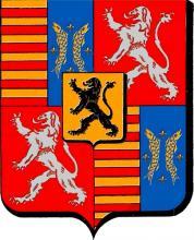 Wapenschild prins-bisschop Jan van Heinsberg (1396-1459) (uit: Les Armoiries des Princes Evêques de Liège (1958), p. 88)