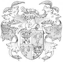 Familiewapen van Sutendael (uit: Het Belang van Limburg, 17-07-1982, p. 29)