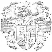Familiewapen van der Straeten (uit: Limburgse families en hun wapen (1984), p. 118)