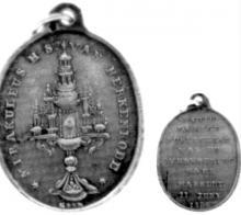 Medaille, 1854, Guillaume Vinckenbosch (collectie Het Stadsmus Hasselt)